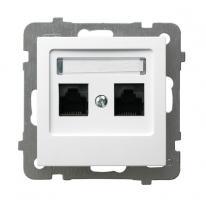AS (biały) - gniazdo komputerowe GPK-2G/K/m/00