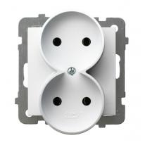 AS (biały) - gniazdo podwójne do ramki GP-2GR/m/00