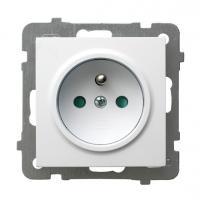 AS (biały) - gniazdo pojedyncze (+0) z przesłonami GP-1GZP/m/00