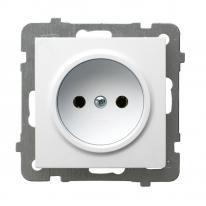 AS (biały) - gniazdo pojedyncze GP-1G/m/00