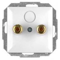 Perła (biały) - gniazdo głośnikowe PT-2GP