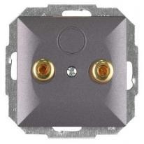 Perła (antracyt) - gniazdo głośnikowe PT-2GP