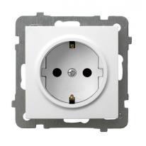 AS (biały) - gniazdo pojedyncze (+0) SCHUKO GP-1GS/m/00