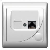 Efekt (biały) - gniazdo komputerowe pojedyncze kat. 5e GPK-1F/F/00