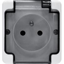 Kos Bryza biały - gniazdo pojedyncze 2P+Z - 181432 Kos Elektro System