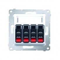 Simon 54 Premium (biały) - gniazdo głośnikowe 4-krotne DGL34.01/11