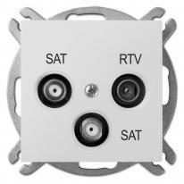 Sentia (biały) - gniazdo R-TV-2xSAT końcowe Elektro-Plast Nasielsk