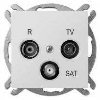 Sentia (biały) - gniazdo R-TV-SAT przelotowe 10dB Elektro-Plast Nasielsk