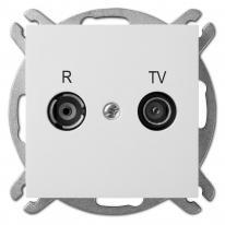 Sentia (biały) - gniazdo R-TV końcowe