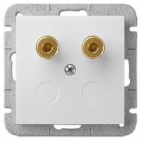 Sentia (biały) - gniazdo głośnikowe pojedyncze Elektro-Plast Nasielsk