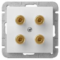 Sentia (biały) - gniazdo głośnikowe podwójne Elektro-Plast Nasielsk