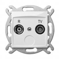 Carla (biały) - gniazdo R-TV końcowe Elektro-Plast Nasielsk