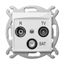 Carla (biały) - gniazdo R-TV-SAT końcowe Elektro-Plast Nasielsk
