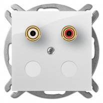 Carla (biały) - gniazdo głośnikowe pojedyncze Elektro-Plast Nasielsk