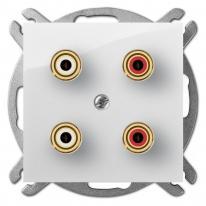 Carla (biały) - gniazdo głośnikowe podwójne Elektro-Plast Nasielsk