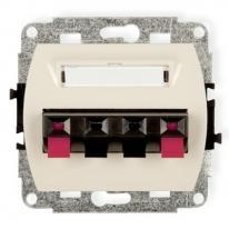 Trend (kremowy) - gniazdo głośnikowe podwójne (2,5mm2)