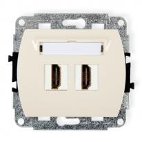 Trend (kremowy) - gniazdo podwójne HDMI