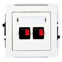 Deco (biały) - gniazdo głośnikowe podwójne (2,5mm2)