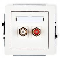 Deco (biały) - gniazdo podwójne RCA (typu cinch)