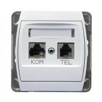gazela-bialy-gniazdo-komputerowe-telefoniczne-gpkt-j