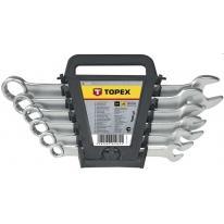 Klucze płasko-oczkowe 6-22 mm /zestaw 12 szt./ - 35D757 Topex