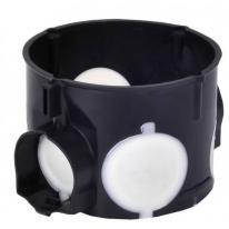 Puszka podtynkowa 60mm płytka z membranami przebiciowymi czarna E106-2K - 83106007