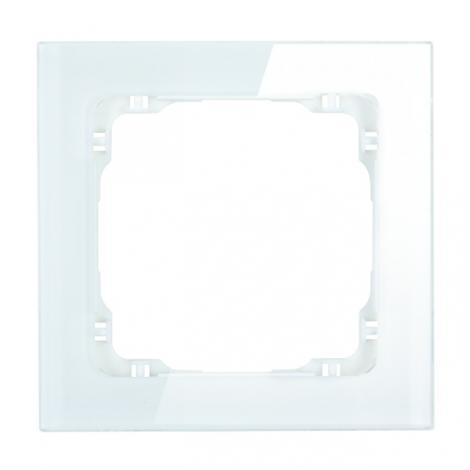 Karlik Deco biały/biały - ramka efekt szkła 1-krotna - 0-0-DRS-1 Karlik