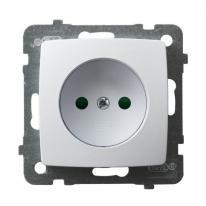 Karo (biały) - gniazdo pojedyncze z przesłonami GP-1SP/m/00