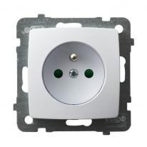 Karo (biały) - gniazdo pojedyncze (+0) z przesłonami GP-1SZP/m/00