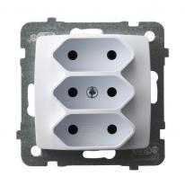 Karo (biały) - gniazdo potrójne GP-3S/m/00