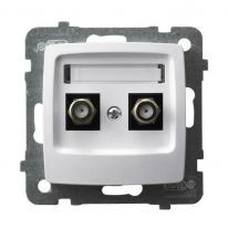 Karo (biały) - gniazdo podwójne typu F GPA-2SF/m/00
