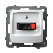 Karo (biały) - gniazdo głośnikowe GG-1S/m/00