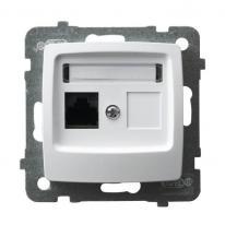 Karo (biały) - gniazdo komputerowe kat.5e GPK-1S/K/m/00