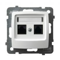 Karo (biały) - gniazdo komputerowe kat.5e GPK-2S/K/m/00