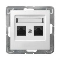 Ospel Impresja biały - gniazdo komputerowe kat.5e GPK-2Y/K/m/00 Ospel