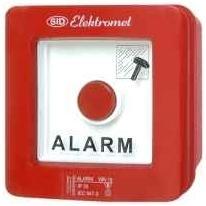 Wyłącznik alarmowy natynkowy bez młotka WA-1s Elektromet Dzierżoniów
