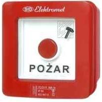 Wyłącznik pożarowy natynkowy bez młotka WP-1s Elektromet Dzierżoniów