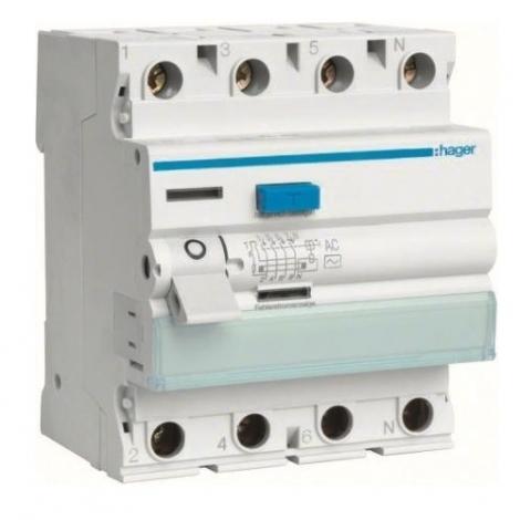 Wyłącznik różnicowoprądowy CDA490 125A 30mA A 4P Hager Hager
