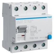Wyłącznik różnicowoprądowy CDB463D 63A 30mA B 4P Hager Hager