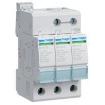 Ogranicznik przepięć T2, 3P, sieć TN-C, Imax 40kA, Up≤1,25kV, styk FM - SPN317 Hager