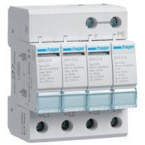 Ogranicznik przepięć T2, 4P, sieć TN-S/TT, Imax 40kA, Up≤1,25kV - SPN418 Hager