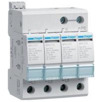 Ogranicznik przepięć T2, 4P, sieć TN-S, Imax 40kA, Up≤1,25kV, styk FM - SPN417 Hager