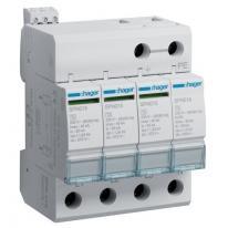 Ogranicznik przepięć T2, 4P, sieć TN-S/TT, Imax 40kA, Up≤1,25kV, styk FM - SPN419 Hager