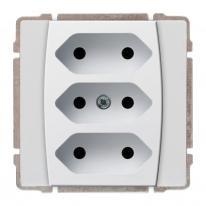 Kos 66 aluminium - gniazdo potrójne Kos Elektro System