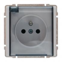 Kos 66 aluminium - gniazdo pojedyncze +0 IP44 Kos Elektro System