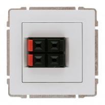 Kos 66 aluminium - gniazdo głośnikowe podwójne Kos Elektro System