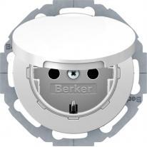 Berker R.classic biały - gniazdo SCHUKO IP44 Berker