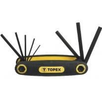 Klucze sześciokątne 1.5-6 mm, zestaw 8 szt. 35D958 Topex