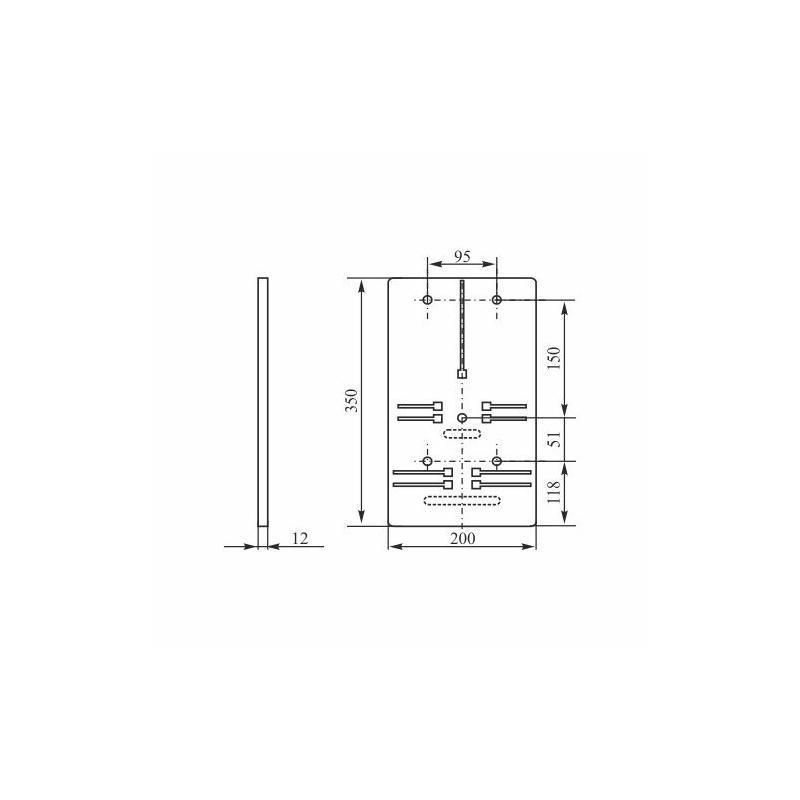 Tablica Licznikowa T 1f 3f B Z Nova 12 Elektro Plast Opat 243 Wek