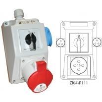 Zestaw instalacyjny 16A/2/4+3x2 ZI04 R111